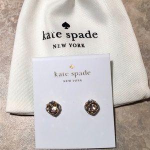 Kate Spade Crystal Lady Marmalade Stud Earrings